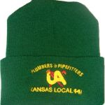 Plumbers Green Knit Cap