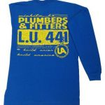 Royal Blue Long Sleeve Plumbers T-Shirt